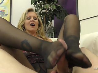 Julia Ann Uses Her Feet and Legs To Milk Her Boy Toy! Wow!