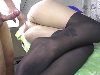 18 YEAR OLD TEEN GETS FUCK HER BIG ASS PANTYHOSE