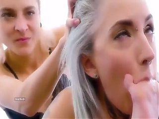 pretty blonde gags her lesbian slave until she passes out