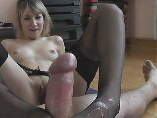 Angel - Footjob for my trainer