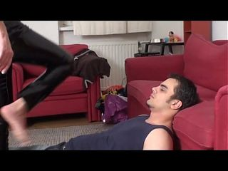 fetish girls slapping slaves with feet